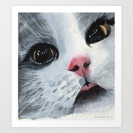 Watercolor Cat Art Print