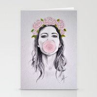 bubble Stationery Cards featuring Bubble by Libby Watkins Illustration