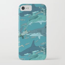 Sharks Pattern iPhone Case