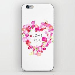 flower love iPhone Skin