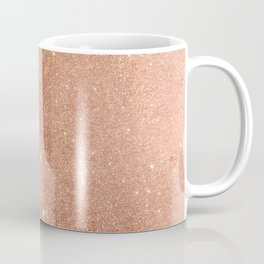 Modern elegant rose gold faux glitter pattern Coffee Mug