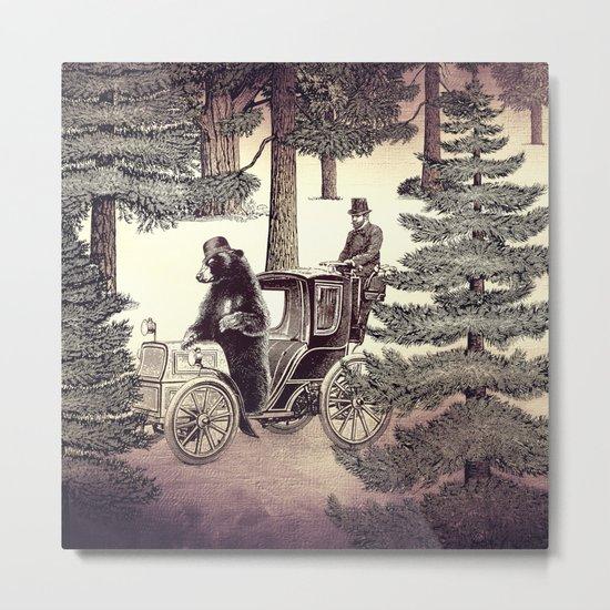 Two Gentlemen in the Forest Metal Print