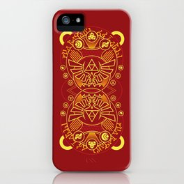 Card Back Red - Hylian Court Legend of Zelda iPhone Case