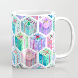 Christmas Gift Hexagons Coffee Mug