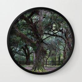 Tree with Spanish Moss Wall Clock
