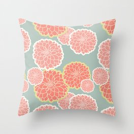 Spring Patio Collection - Fun Flowers Throw Pillow