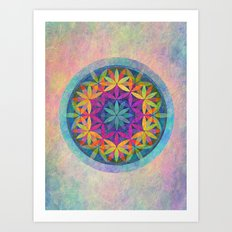 The Flower of Life variation Art Print
