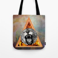 leon Tote Bags featuring leon by blueart