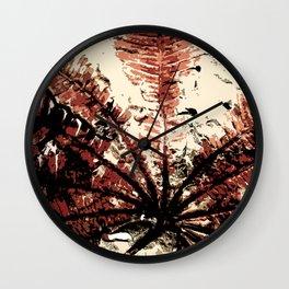 Plant Fossil Wall Clock