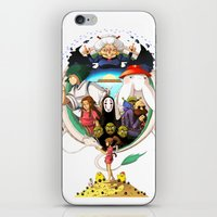 spirited away iPhone & iPod Skins featuring Spirited away by Collectif PinUp!