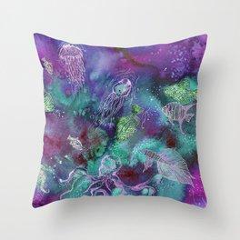 Aurora Seaworld Party Throw Pillow