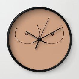 Boobs - Light Brown Wall Clock