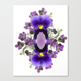Birth Stone & Flower Print/FEBRUARY Canvas Print