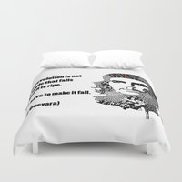 che Duvet Covers featuring CHE GUEVARA by Rebecca Bear
