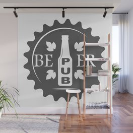 Pub Craft Beer Bottles style Fashion Modern Design Print! Wall Mural