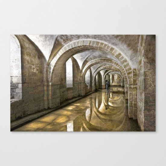 Winchester Cathedral Crypt Canvas Print