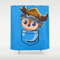 warcraft Shower Curtains featuring Viking Pepe! by SlothgirlArt