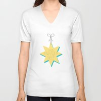 pain V-neck T-shirts featuring Pain by Sarah Turbin