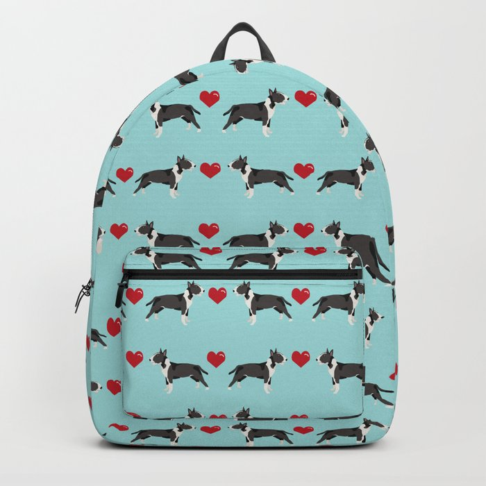 Bull Terrier hearts love dog breed pet friendly gifts terriers bull terriers Backpack