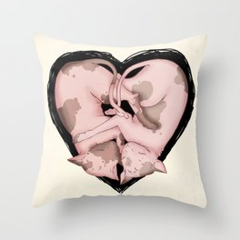 Snuggliphinx  Throw Pillow