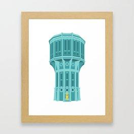 Water tower Holland blue Framed Art Print