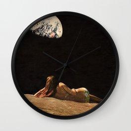 Moon Vacay Wall Clock