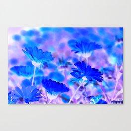 Blue Marigold Gypsy Boho Fantasy Garden Canvas Print