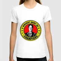dwight schrute T-shirts featuring Dwight Schrute (Dwight Army Of Champions) by Silvio Ledbetter