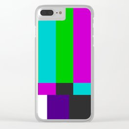 NTSC Color Bars Clear iPhone Case