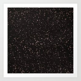 Dolce Black Art Print