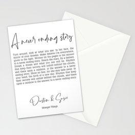 Never Ending Story Lyrics Poster Dustin Suzie Stationery Cards