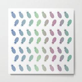 Gradient Pineapple #society6 #decor #buyart #artprint Metal Print