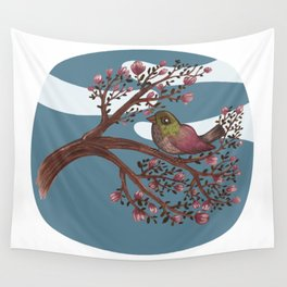 tree and bird Wall Tapestry