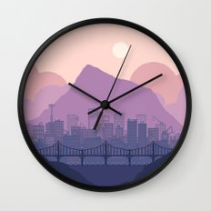 Lavender Morning Wall Clock
