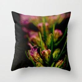 Straight Up Purple Throw Pillow