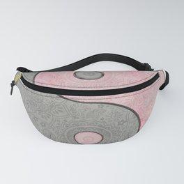 Yin Yang Esoteric Symbol Pastel Pink And Grey Fanny Pack