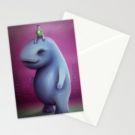 Kid Rides Giant PeT Stationery Cards