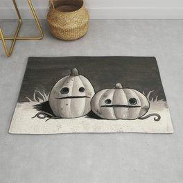 Old Friends - Halloween Pumpkins in Black and Grey Rug
