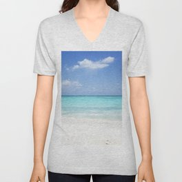 beach, Zanzibar, Tanzania Unisex V-Neck