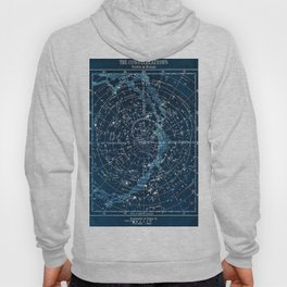 1900 Star Constellation Map - Chart Vintage Poster Hoody