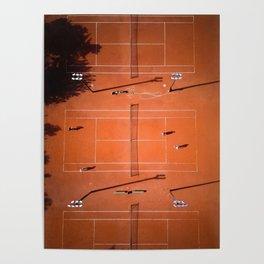 Tennis court orange Poster