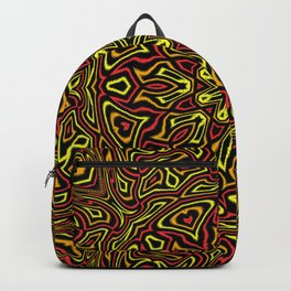 Red Orange and Yellow kaleidoscope Backpack