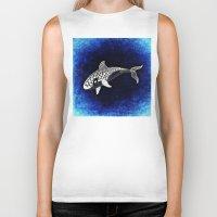 killer whale Biker Tanks featuring Killer Whale Illustration by Limitless Design