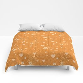 Flowers, Hearts & Donuts Comforters