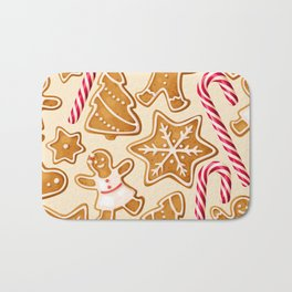 Gingerbread Cookies & Candy Canes Bath Mat