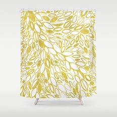 Golden Doodle petals Shower Curtain
