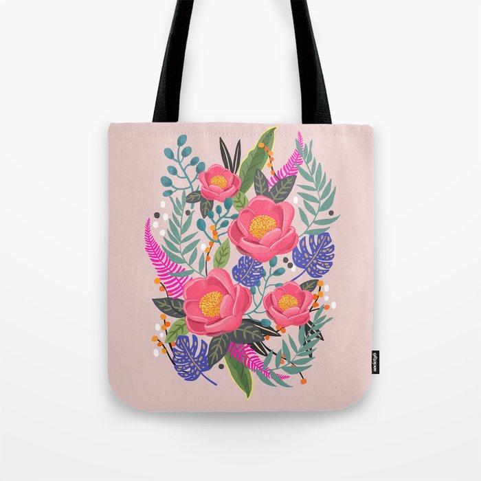Romantic Blossom, flower print, floral print Tote Bag