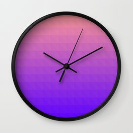 Pink and Purple Ombre - Flipped Wall Clock