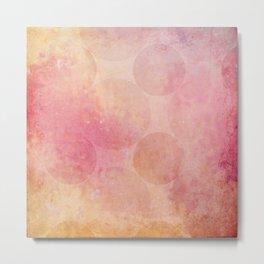 Pink Vintage Circles Background Texture Metal Print