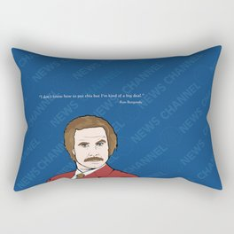 Ron Burgundy Anchorman  Rectangular Pillow